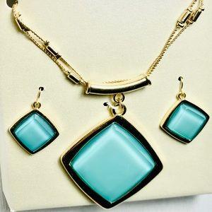 Jewelry - Under Glass Style Pendant & Earrings